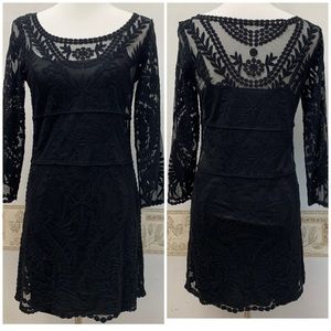Express Long Sleeve Lace Dress